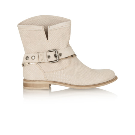 Marco Tozzi Leather Ankle Boot - Off-white