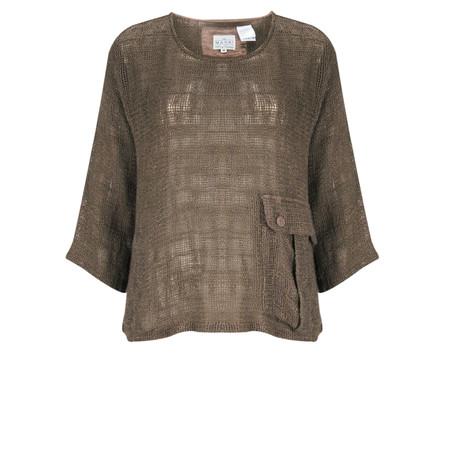 Masai Clothing Open Weave Dagney Top - Brown