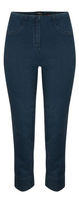 Robell Trousers Bella 7/8 Cropped Jean Denim