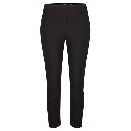 Robell Trousers Rose 09 7/8 Narrow Cropped Trouser - Black