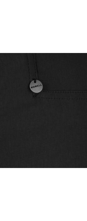 Robell Rose 78cm Black Narrow Leg Trouser Black