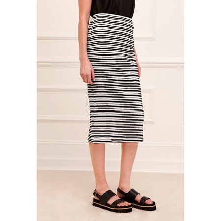 Great Plains Alexandra Stripe Pencil Skirt - Black