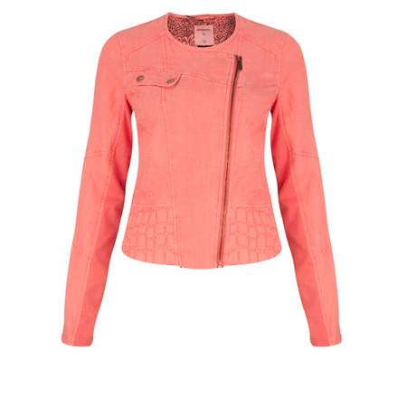 Sandwich Clothing Biker Style Linen Jacket - Orange