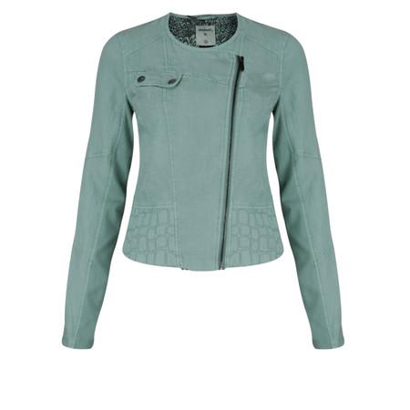 Sandwich Clothing Biker Style Linen Jacket - Blue