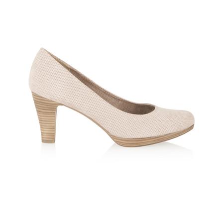 Marco Tozzi Textile Court Shoe - Beige