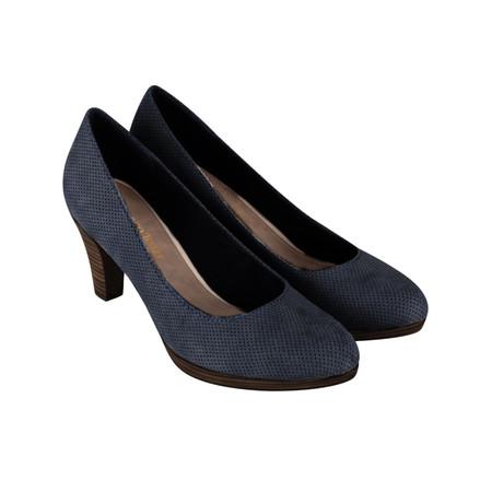 Marco Tozzi Textile Court Shoe - Blue