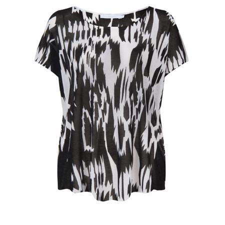 Lauren Vidal Inka Short Sleeve Top - Black