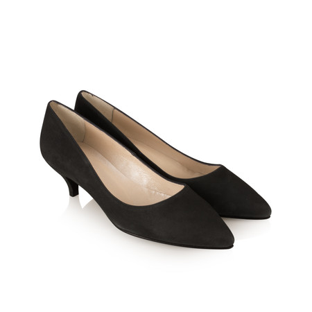 Cefalu Daila Kitten Heel Shoe - Black