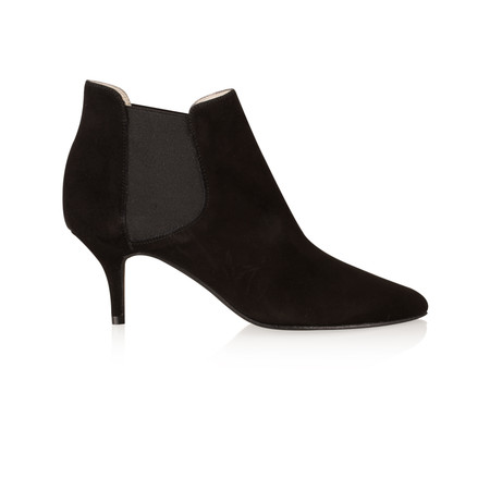 Gemini by Cefalu Ilirio Suede Kitten Heel Ankle Boot - Black