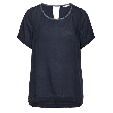 Sandwich Clothing Solid Viscose Top - Blue