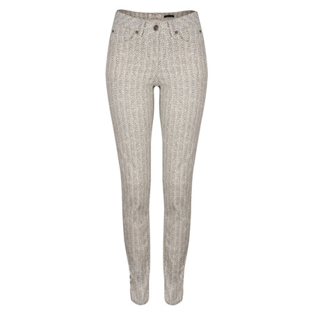 Sandwich Clothing Printed Stretch Twill Trouser - White