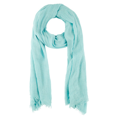 Sandwich Clothing Solid Woven Scarf  - Blue