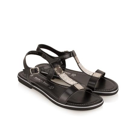 Marco Tozzi Leather Sandal - Black