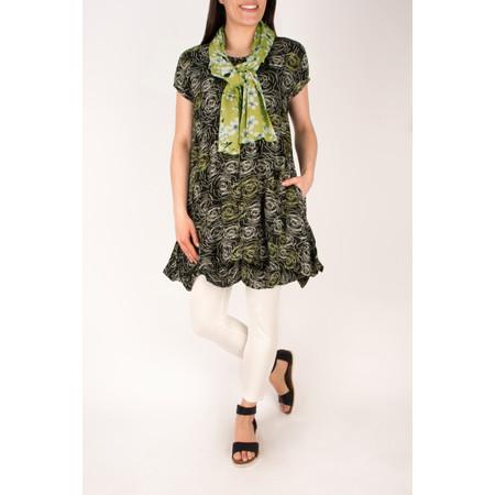 Masai Clothing Nebala Rose Stencil Dress - Green