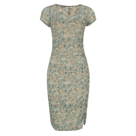 Sandwich Clothing Printed Crinkle Dress - Green