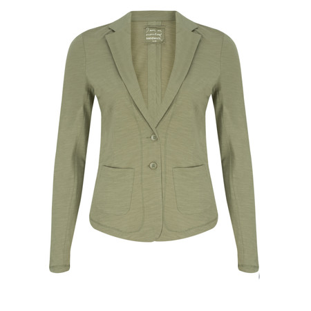 Sandwich Clothing Relaxed Cotton Slub Jersey Blazer - Green
