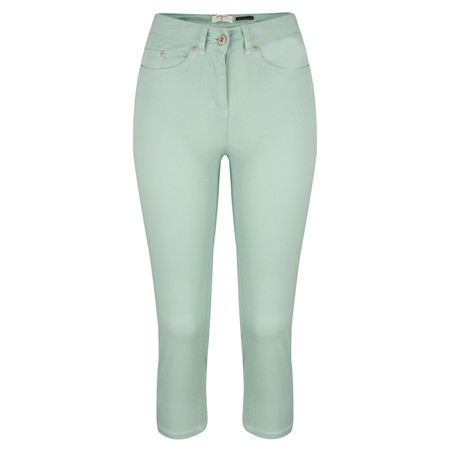 Sandwich Clothing Casual Crop Trouser - Green