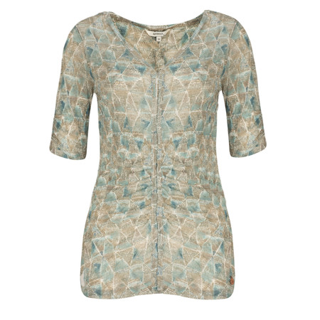 Sandwich Clothing Tribal Printed Crinkle Stretch Top - Green