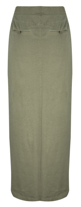 Sandwich Clothing Jersey Maxi Skirt Washed Army