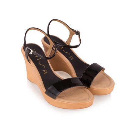 Unisa Shoes Rita Wedge Sandal - Black