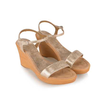 Unisa Shoes Rita Wedge Sandal - Gold