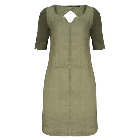 Sandwich Clothing Linen Garment Dye Dress - Green