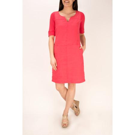 Sandwich Clothing Linen Garment Dye Dress - Paradise Pink