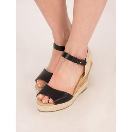 KimShu Ellie Wedge Sandal - Black