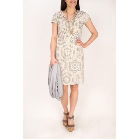 Sandwich Clothing Tribal Print Jersey Dress - White