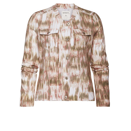 Sandwich Clothing Tribal Print Cotton Jacket - Pink