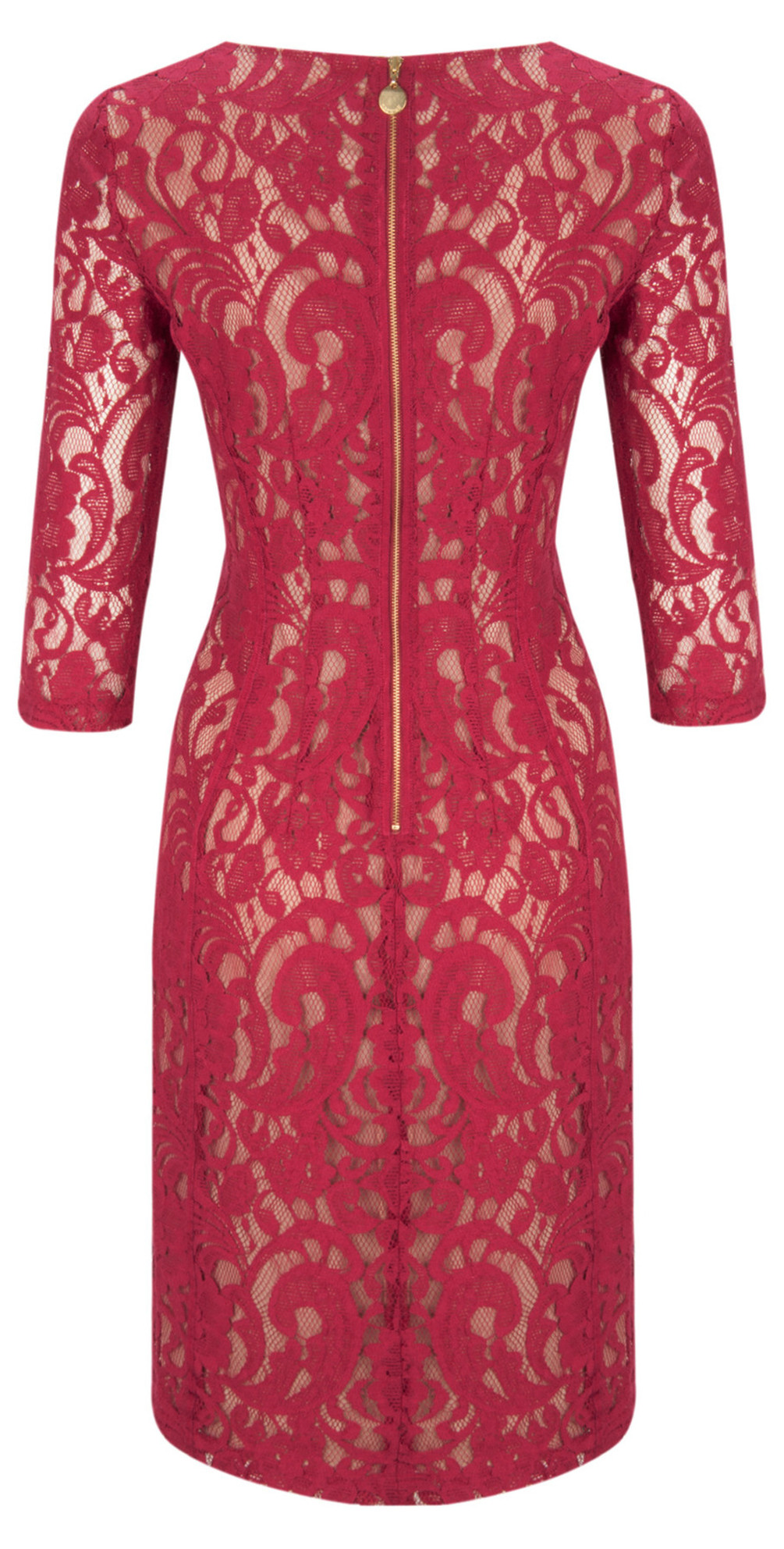 ea93fdfecae0 InWear Patrice Lace Dress in Fuchsia