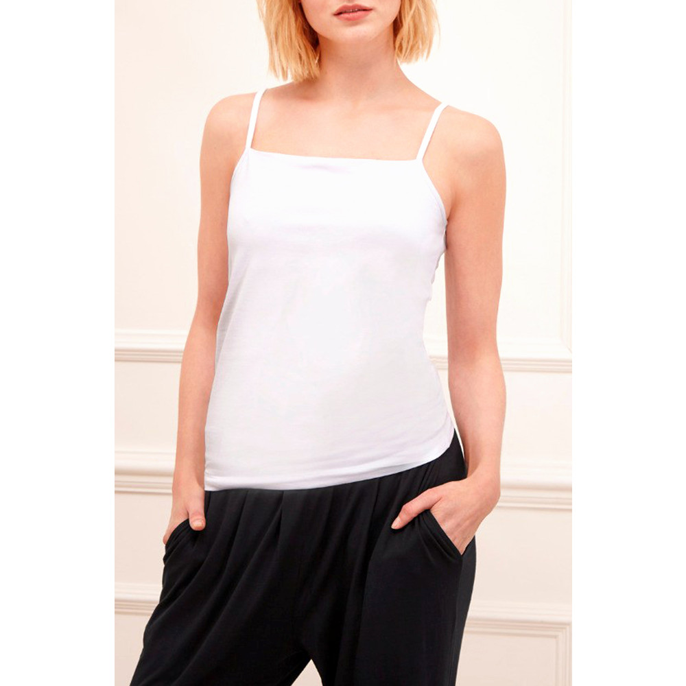 Great Plains Classic Cotton Lycra Camisole White