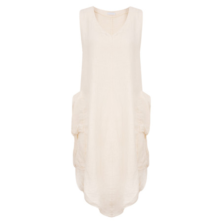 TOC  Demi Linen Tunic Dress - Beige