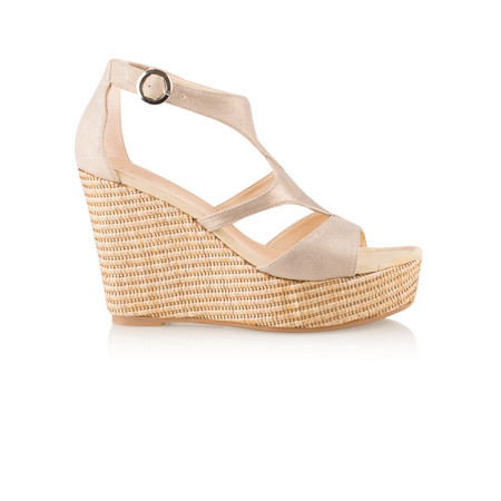 Unisa Shoes Marcos High Wedge Sandal - Grey