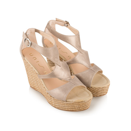 Unisa Shoes Marcos High Wedge Sandal - Grey