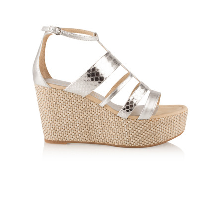 Unisa Shoes Laica Metalic Wedge Sandal - Grey