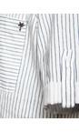 Sandwich Clothing Pure White Pin-Stripe Linen Blend Shirt
