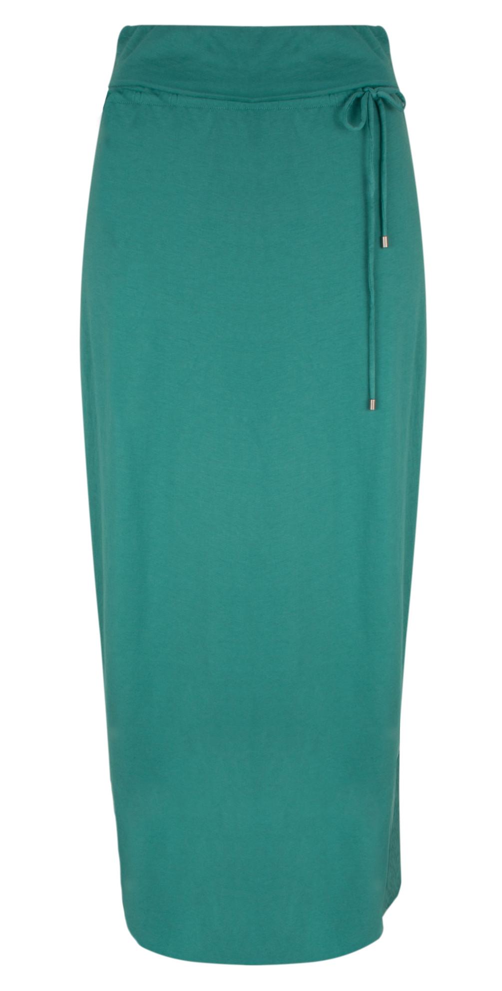 Long Jersey Wrap Effect Skirt main image