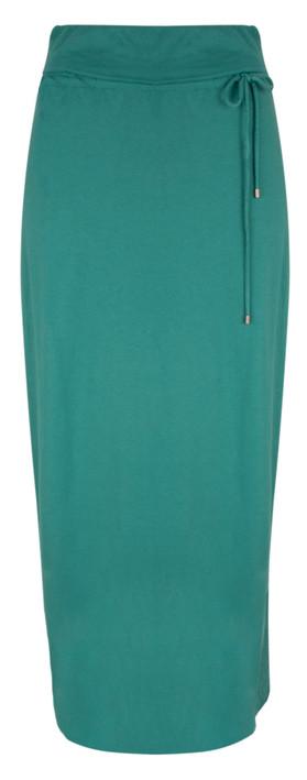 Sandwich Clothing Long Jersey Wrap Effect Skirt Teal