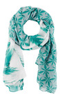 Sandwich Clothing Teal Palm Print Scarf