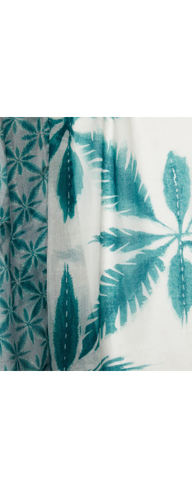 Sandwich Clothing Palm Print Scarf Teal
