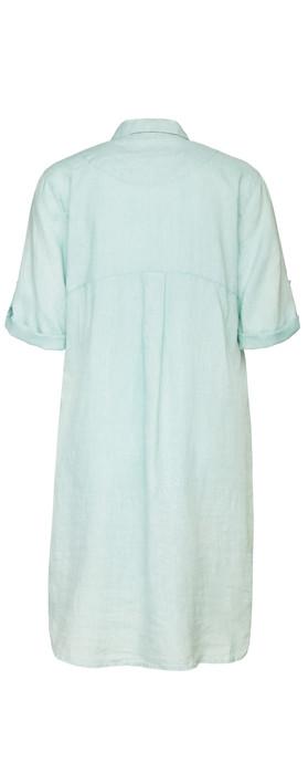 Sandwich Clothing Relaxed Linen Shirt Dress Blue Haze