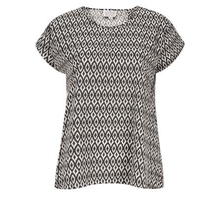 Masai Clothing Diamond Print Danny Top - Black