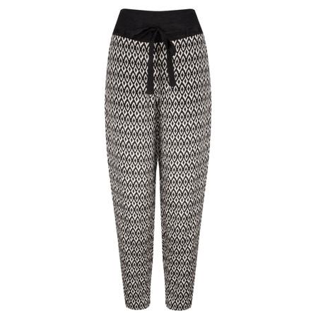 Masai Clothing Diamond Print Panis Trouser - Black