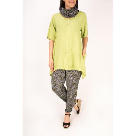 Masai Clothing Pelsa Floral Printed Trousers - Green