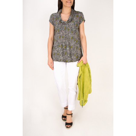 Masai Clothing Dolores Floral Printed Top - Green