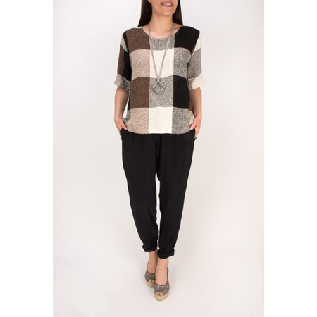 Masai Clothing Checked Dilay Top - Beige
