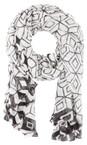 Sandwich Clothing Grey Magnet Victoria Weave Geometric Print Scarf
