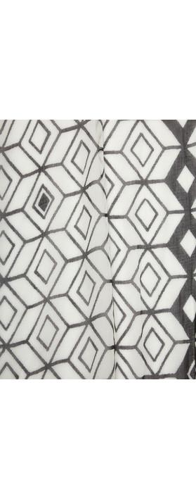 Sandwich Clothing Victoria Weave Geometric Print Scarf Grey Magnet
