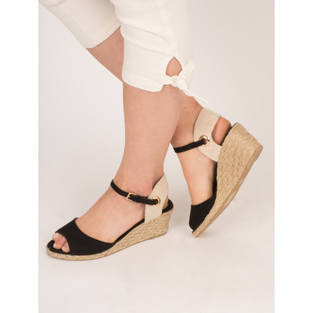 KimShu Claire Wedge Sandal - Black